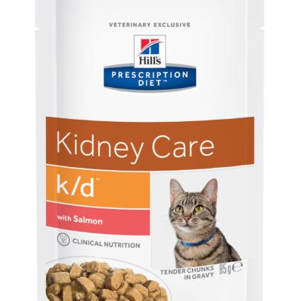 PD Feline k/d con Salmón (bolsita) 12x85g