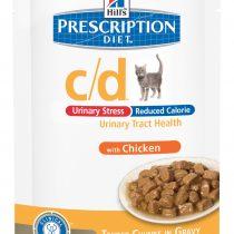 PD Feline c/d Urinary Stress Reduced Calorie Pollo (bolsita) 12x85g