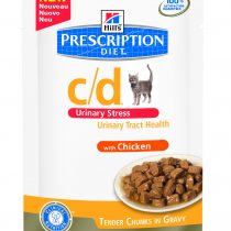 PD Feline c/d Urinary Stress Pollo (bolsita) 12x85g