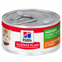 SP Kitten 1st Nutrition con Pollo y Pavo Mousse (lata) 24x85g