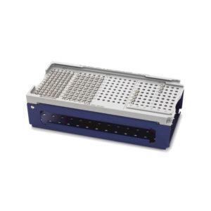 Gradilla para tornillos de cortical de Ø 2.7 y 3.5 mm y tornillos de esponjosa de Ø 4.0 mm, sin contenido, con tapa