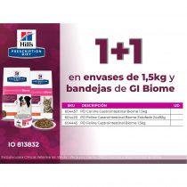 1+1 en envases de 1,5kg y bandejas de Gi Biome