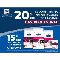 20% DTO. EN PRODUCTOS SELECCIONADOS DE LA GAMA GASTROINTESTINAL