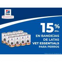15 % dto. EN BANDEJAS DE LATAS VET ESSENTIALS PARA PERROS