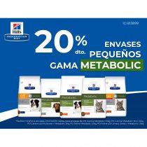 20% DTO. EN ENVASES PEQUEÑOS DE LA GAMA METABOLIC