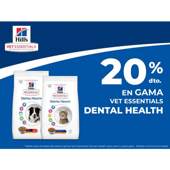 20% DTO. EN GAMA VET ESSENTIALS DENTAL HEALTH
