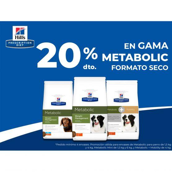 20% DTO. EN GAMA METABOLIC FORMATO SECO