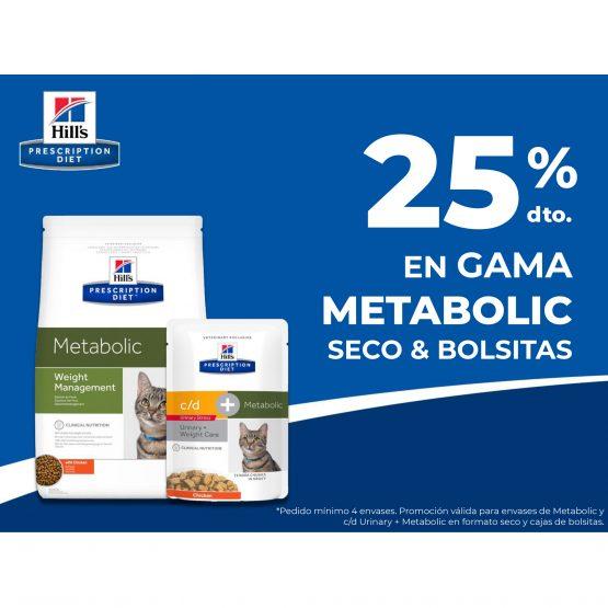 25% DTO. EN GAMA METABOLIC SECO & BOLSITAS