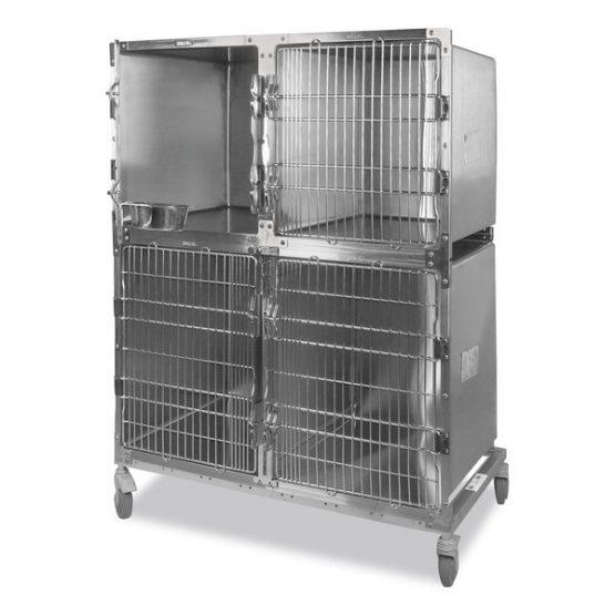 Jaula veterinaria con 3 compartimientos Shor-Line® de acero inoxidable, Eickemeyer