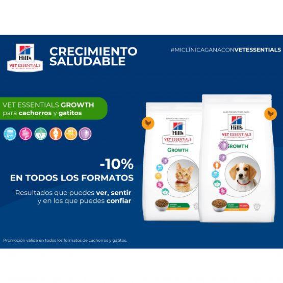 -10% EN TODOS LOS FORMATOS, para cachorros y gatitos VET ESSENTIALS GROWTH