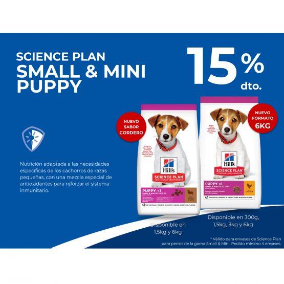 15 % dto. SCIENCE PLAN SMALL & MINI PUPPY