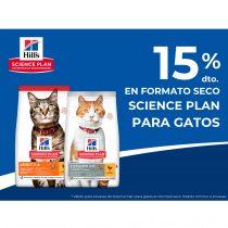 15 % dto. EN FORMATO SECO SCIENCE PLAN PARA GATOS